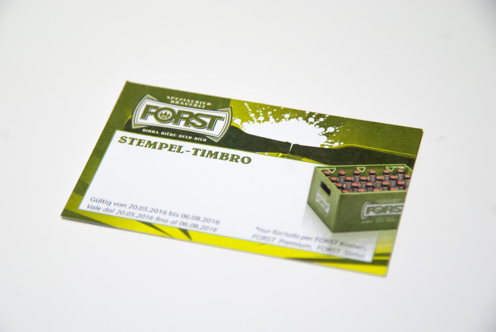 Stempelkarte Forst
